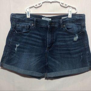 Banana Republic pre ripped jean shorts